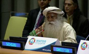Sadhguru at the United Nations- World Water Day 2018