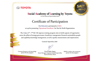 Isha Vidhya participates in SALT 2020