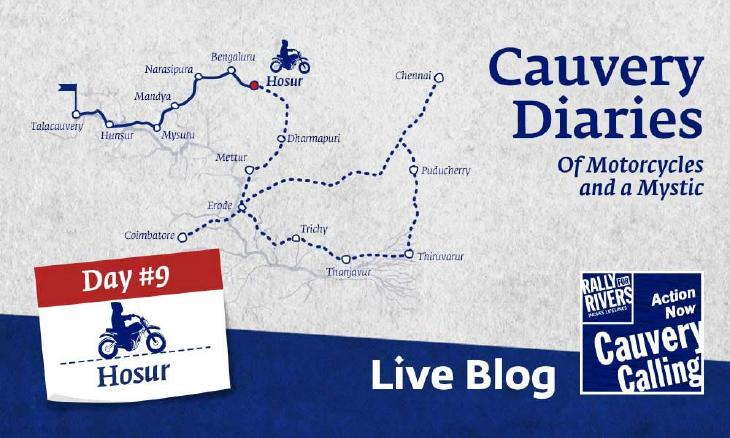 Day 9 - Cauvery Diaries: Of Motorcycles and a Mystic