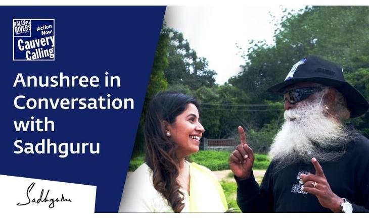 Anushree in conversation with sadhguru