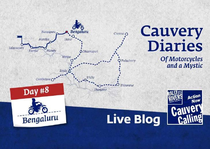 Day 8 - Cauvery Diaries: Of Motorcycles and a Mystic